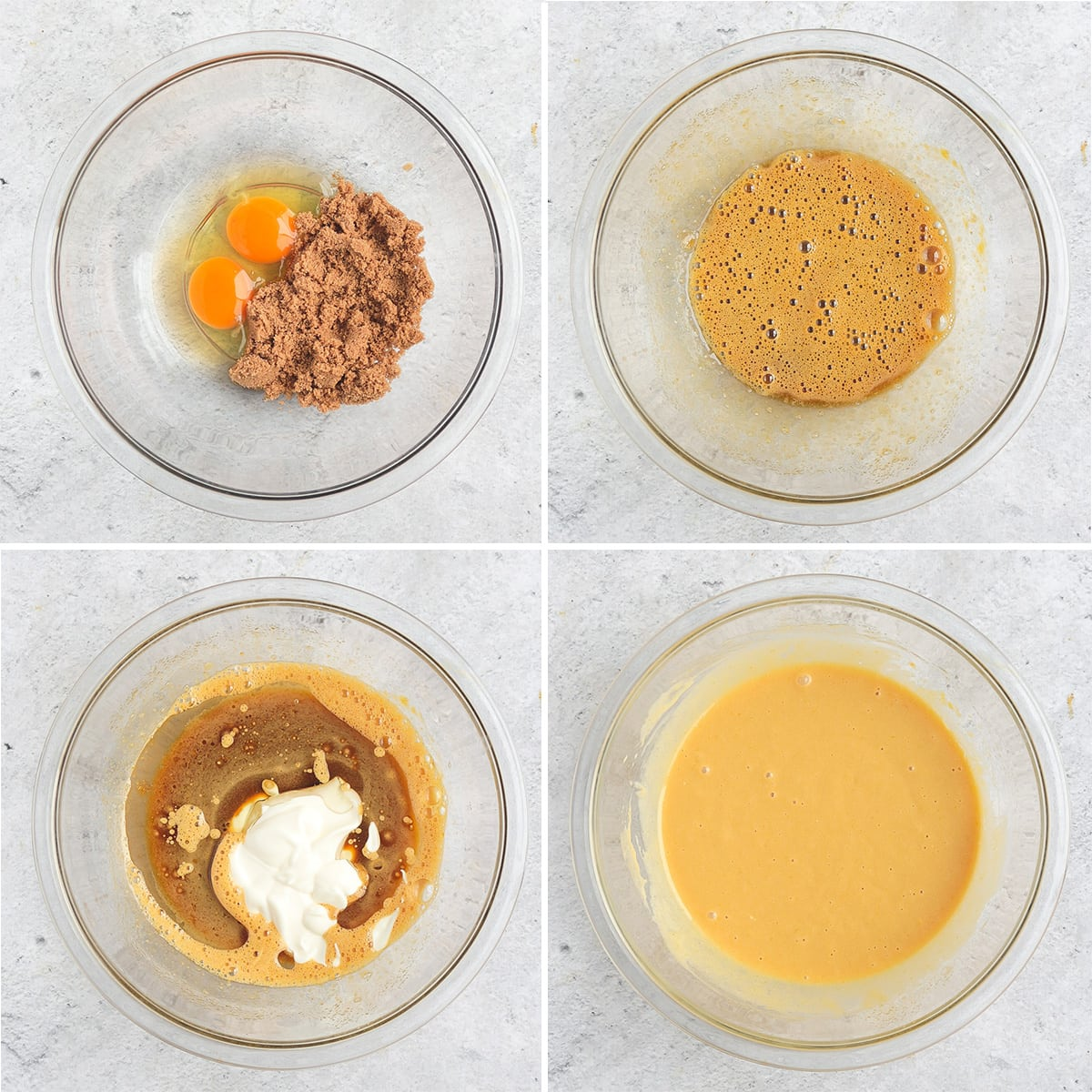 Process Shot: mixing the wet ingredients