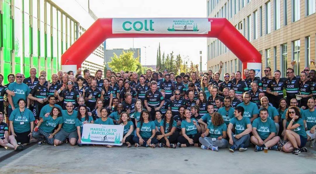 Colt Mitarbeiter und abakus TK unterstützen die Stiftung HandicapAid in Frankfurt!