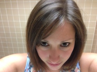 Highlights after three days' use of Sun-In with a hair dryer and sun light.