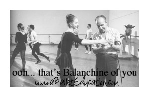 Thats Balanchine of You