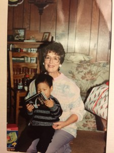 My grandma giving me the Nutcracker.