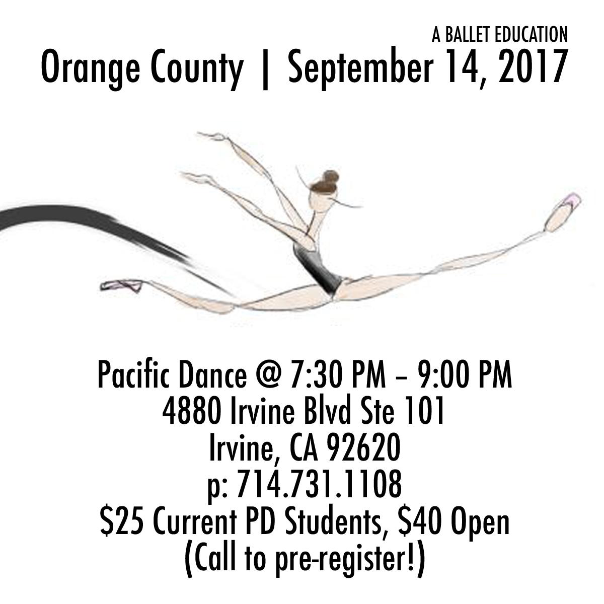 a ballet education orange county