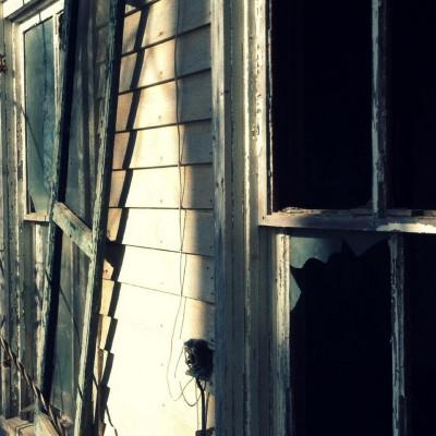 Farmhouse window front close