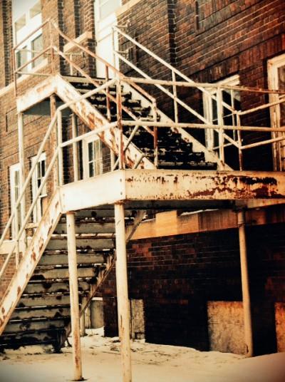 Norfolk Hospital Incurably Insane staircase.jpg PS