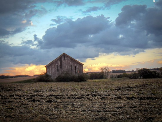Barn at Sunset, Nebraska-Eklund