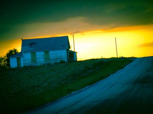 Sunset at The Lunchbucket Abandoned Cafe, Nebraska-Eklund