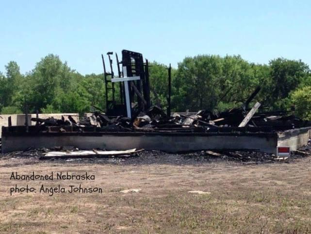 Burned School Abandoned Nebraska Photo by Angela Johnson