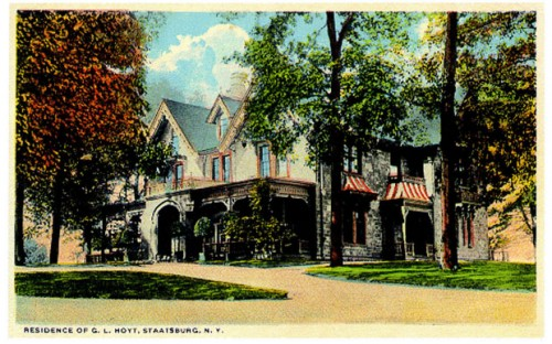 Vintage postcard of Hoyt House, Staatsburg NY Photo: NY State Office of Parks