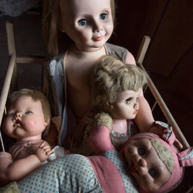 Sweet Dreams. Forgotten dolls in a dusty attic. Photo: Andy Milford