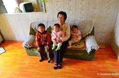 North Korean Grandma And Grandchildren