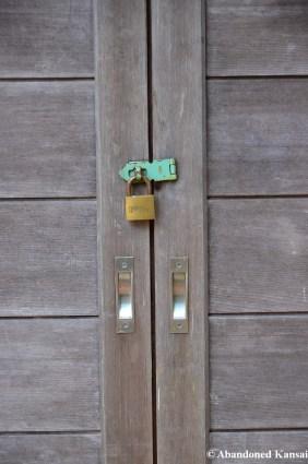 Japanese Door With A Padlock