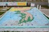 3D Sculpture Map Of Korea At The Foreign Language School In Rason, DPRK