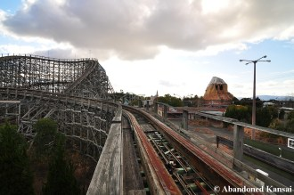Abandoned Wooden Rollercoaster