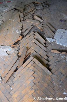 Destroyed Wooden Floor