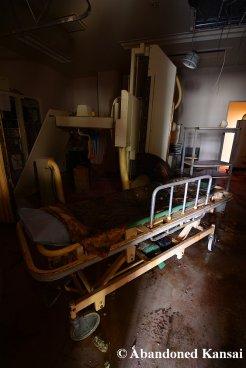 Abandoned CT Machine And Stretcher