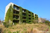 Partly Overgrown Apartment Building