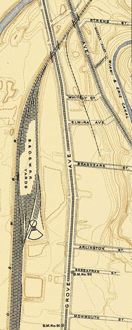 Baltimore and Ohio Southwestern Railroad: Spring Grove Industrial Track (Cincinnati, Ohio)