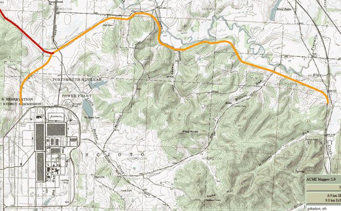 Chesapeake & Ohio Railroad (Portsmouth Gaseous Diffusion Plant Spur)