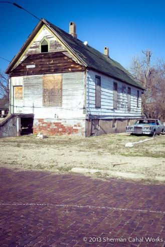 An abandoned residence along Poplar St.