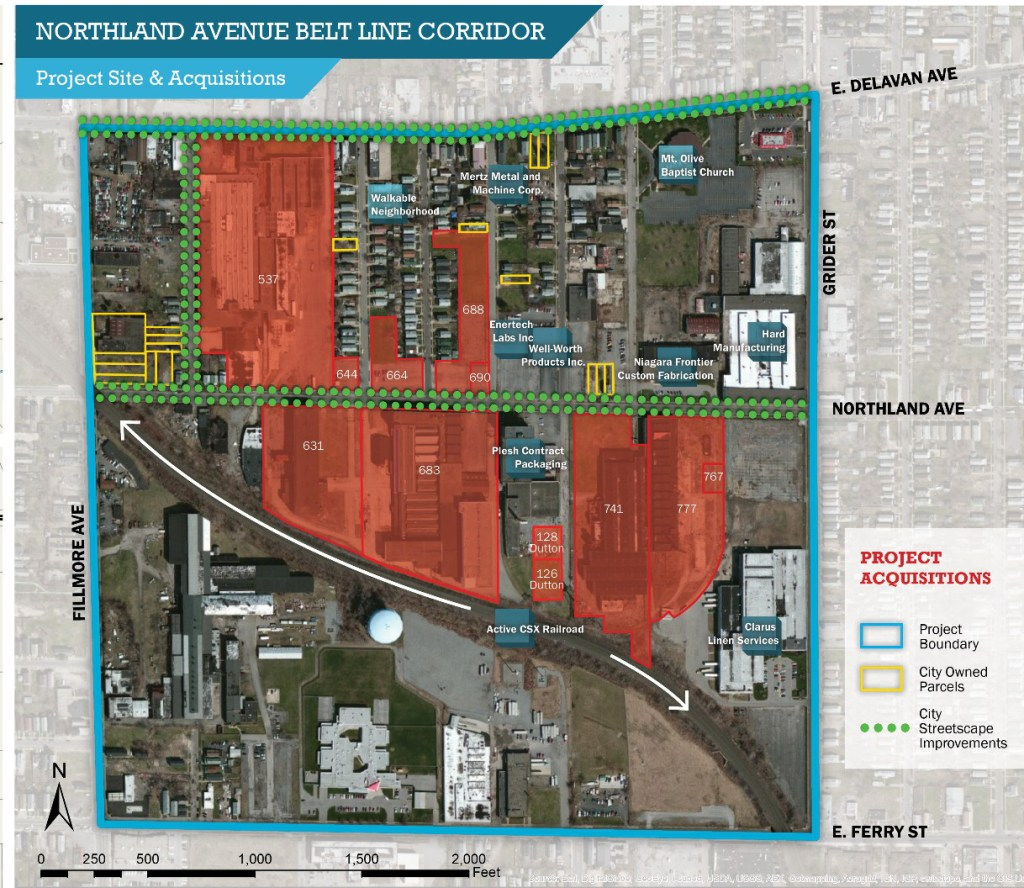 Northland Avenue Redevelopment Map