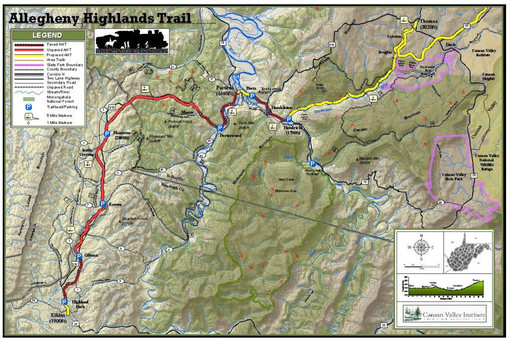 Allegheny Highlands Trail Map