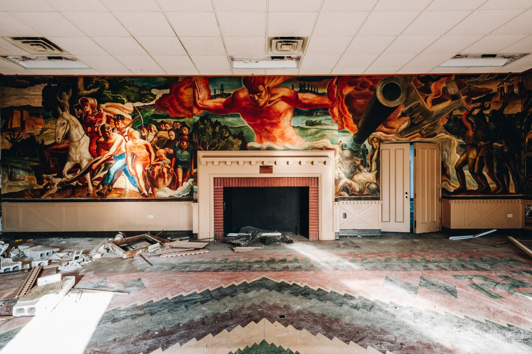 Friars Club Mural by Lumen Martin Winter