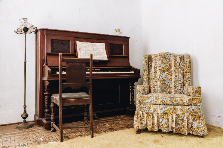 Antique Piano and Vintage Chair at the Stone Clove Boarding House
