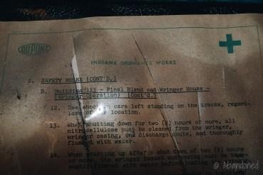 Paperwork inside Blending & Wringler House Building 113