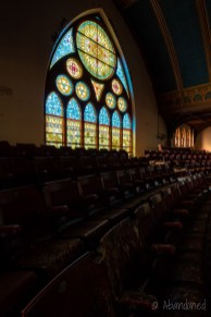 Sanctuary with Stained Glass