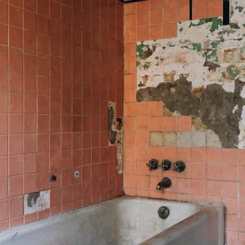 Ohio State Reformatory Bathtub with Vintage Pink Tiles