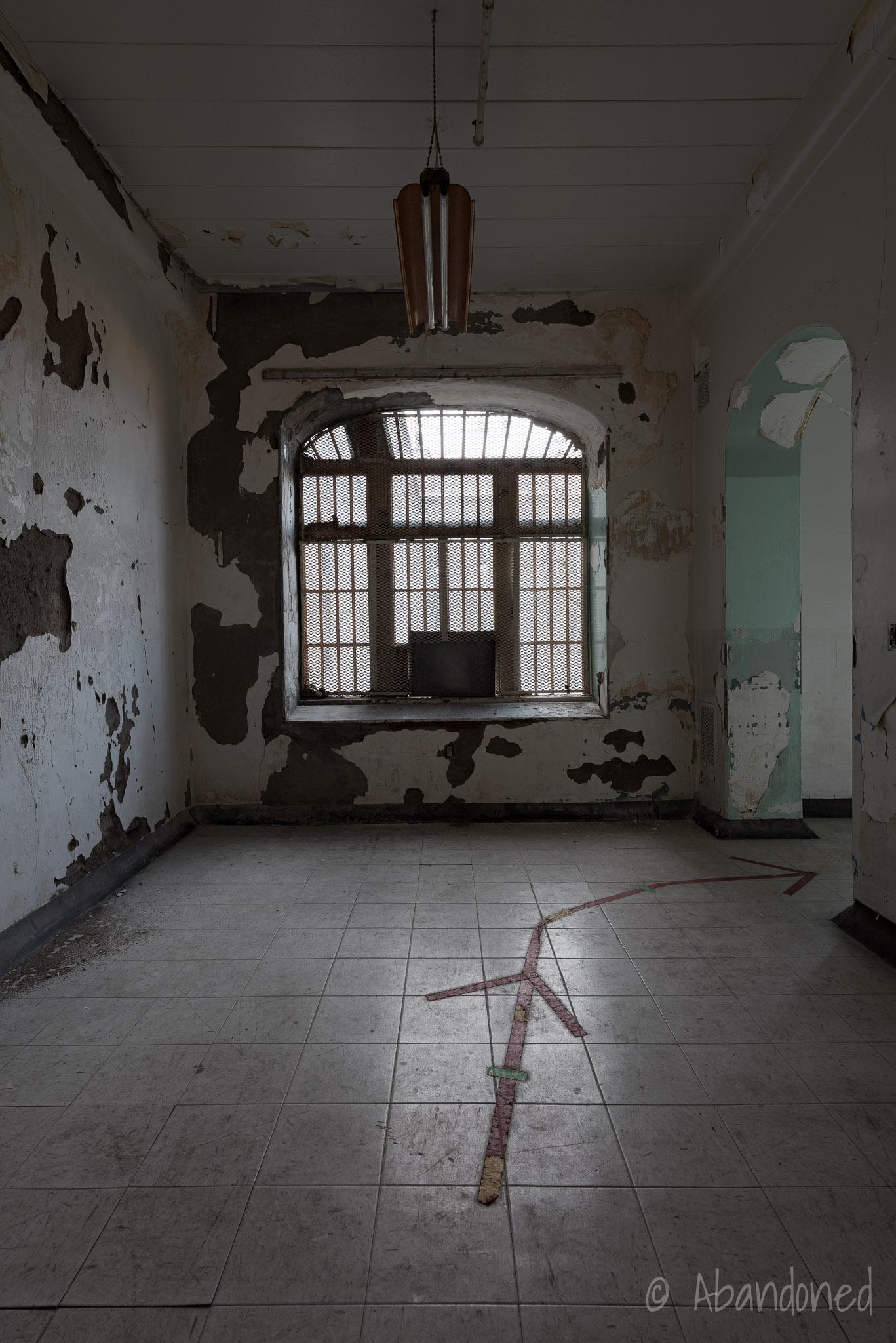 Trans-Allegheny Lunatic Asylum Ward Hallway with Large Window