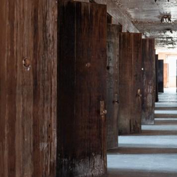 Trans-Allegheny Lunatic Asylum Hallway with Derelict Wood Doors