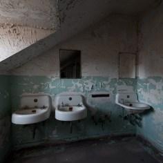Trans-Allegheny Lunatic Asylum Restroom with Sinks