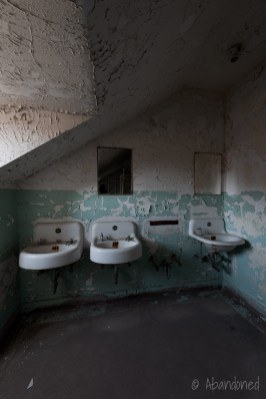 Trans-Allegheny Lunatic Asylum Restroom with Sinks