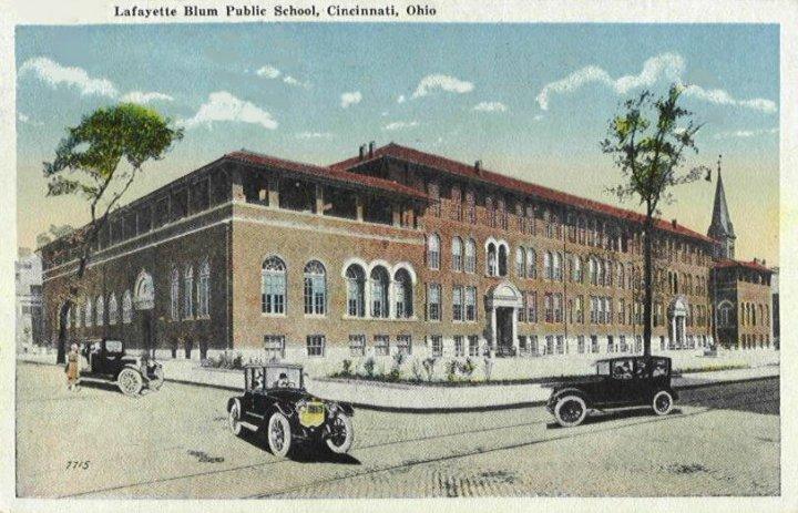 Lafayette Bloom School Postcard