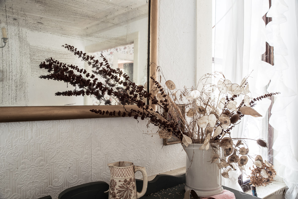 Abandoned Decorations and Antiques in Dining Room