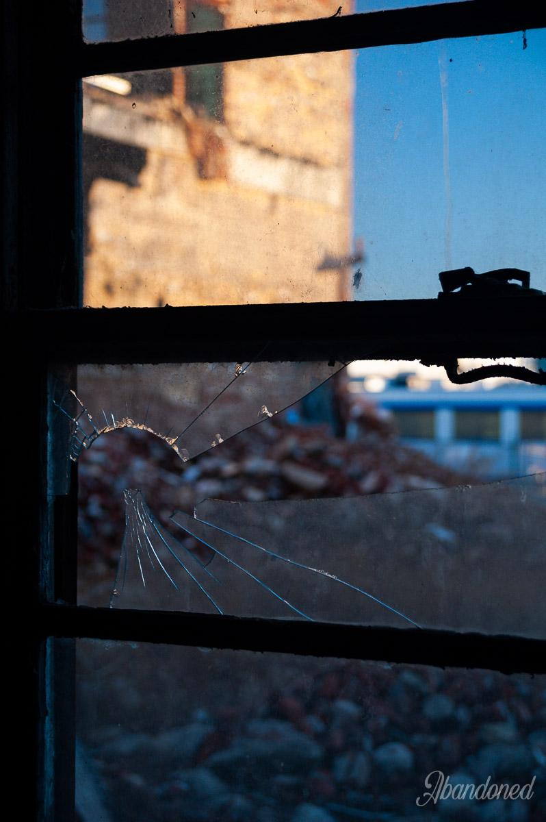 Hudepohl Brewing Company Broken Window