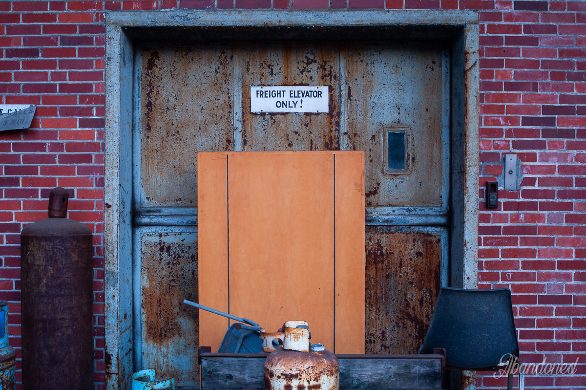 Hudepohl Brewing Company Freight Elevator Door