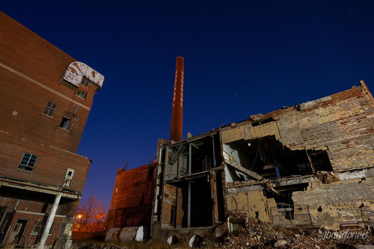 Hudepohl Brewing Company Smokestack
