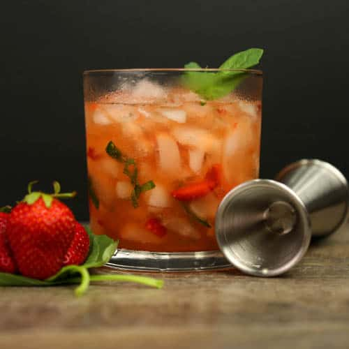 Strawberry Mezcal Smash