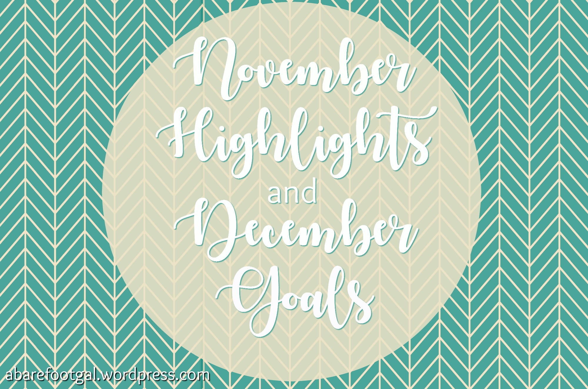 November Highlights and December Goals