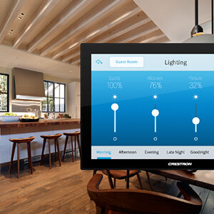 crestron smart home automation system