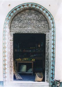 Author: Justin Clements, Wikipedia Commons wooden door at Lamu in Kenya