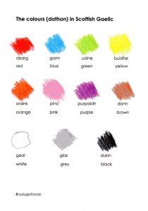 colors gaelic
