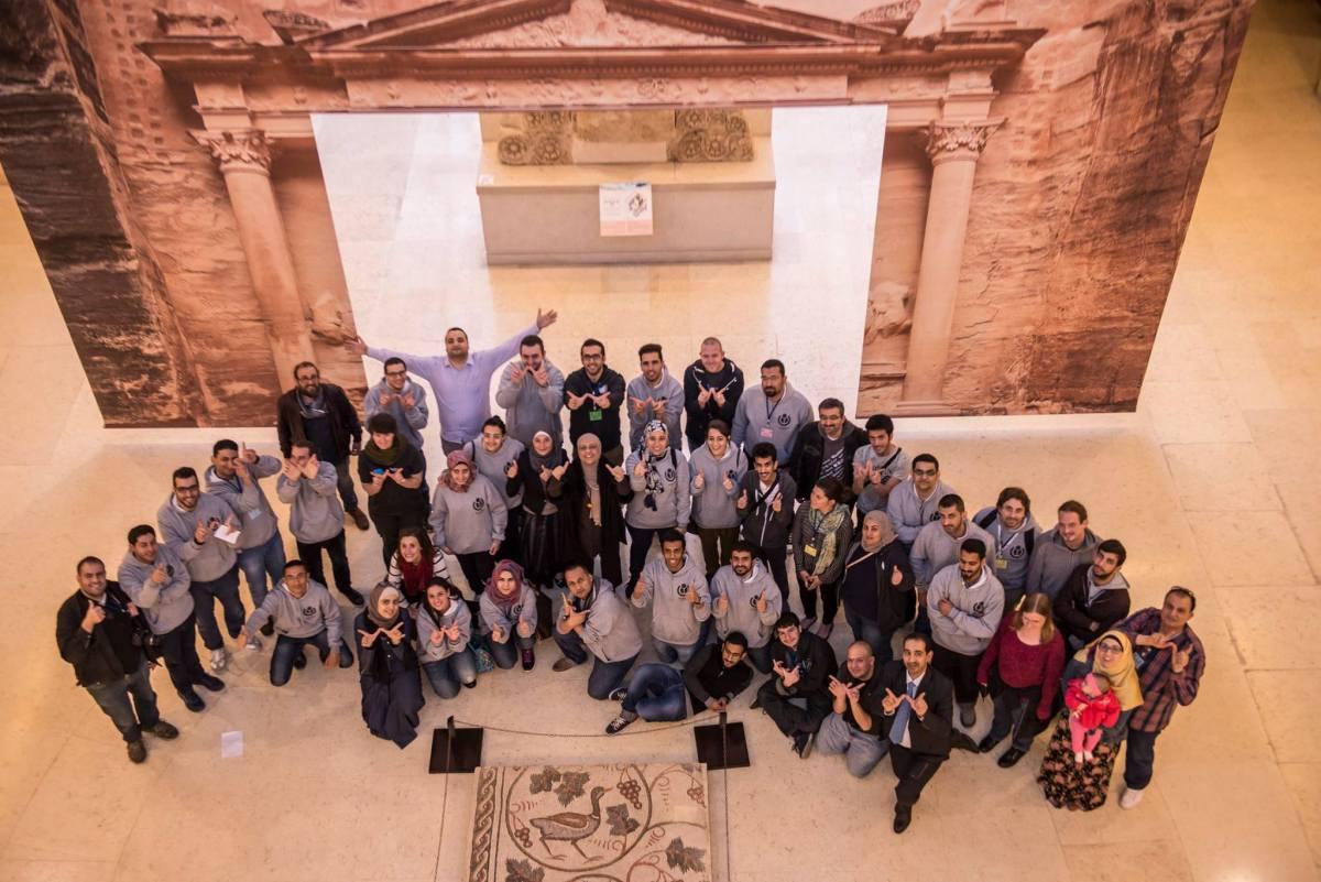 ختام ويكي عربية في بهو متحف الأردن