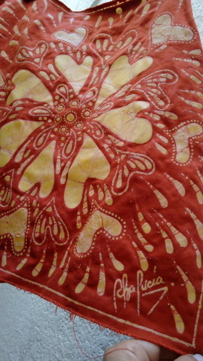 Amo trabajar con esta técnica de batik