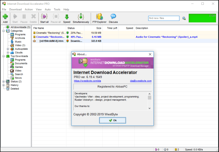 Internet Download Accelerator Pro Registration Key