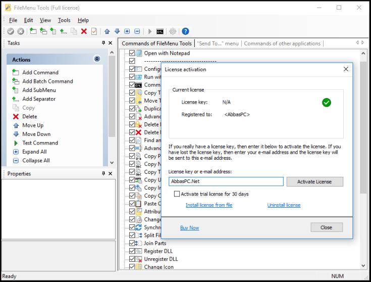 FileMenu Tools License Key