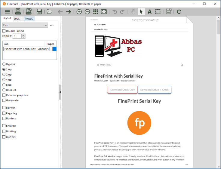 FinePrint License Code Free Download