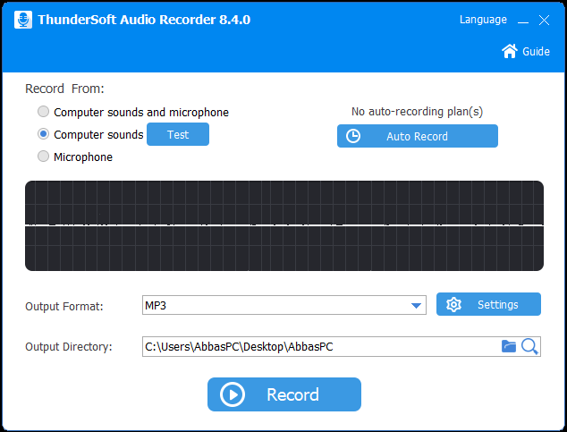 ThunderSoft Audio Recorder Registration Code